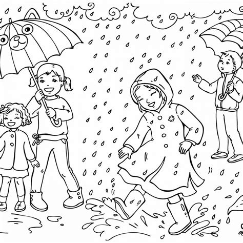 Weather Colouring Pictures for Children free for kids