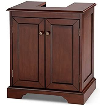 Weatherby Bathroom Pedestal Sink Storage Cabinet