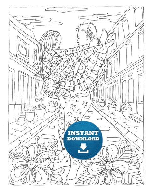 Wedding coloring pages Etsy