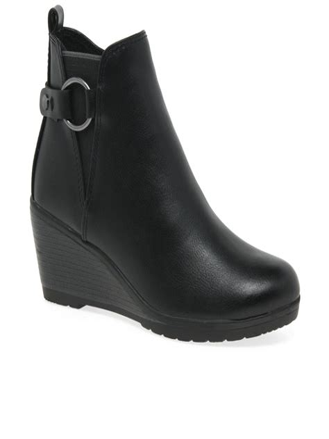 Wedge Heel Ankle boots Ladies Italian Shoes