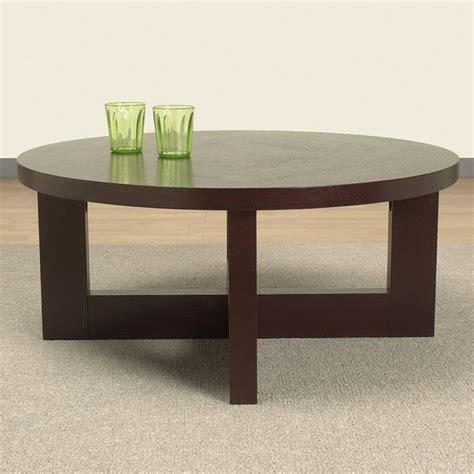 Wenge Round Coffee Table Overstock