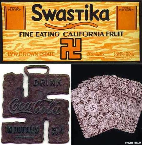 Western use of the swastika in the early 20th century