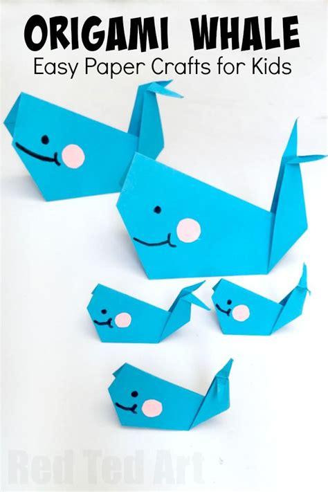 Whale Origami Paper Craft DLTK Kids
