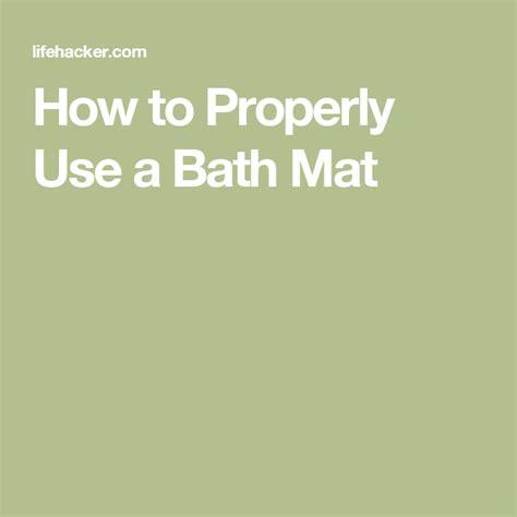 What Is Proper Bath Mat Etiquette lifehacker