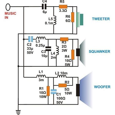 3 way crossover schematic diagram images way crossover speaker what are three way speaker crossovers crossover networks