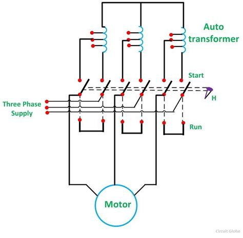 auto transformer starter control wiring diagram images k what is auto transformer starter its theory circuit globe
