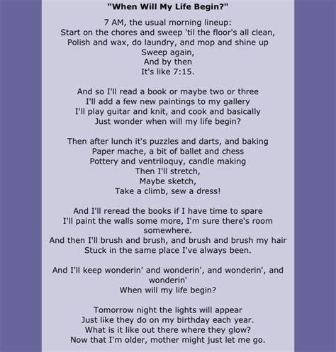 When Will My Life Begin Lyrics from Disney s Tangled