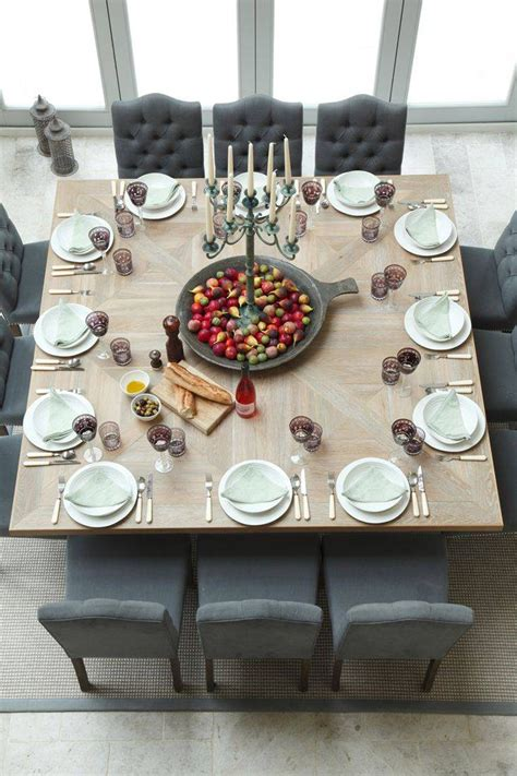 Where can I find a square dining room table for 12 people