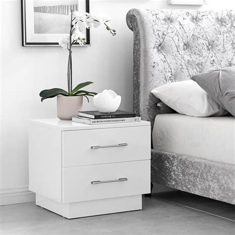 White Bedside Tables Australia Gloss Leather Wooden