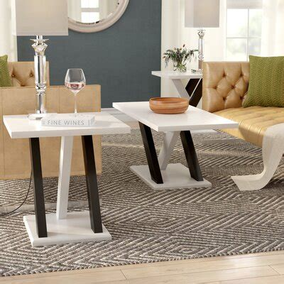 White Coffee Table Sets You ll Love Wayfair
