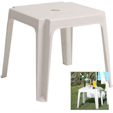 White Plastic Garden Table eBay