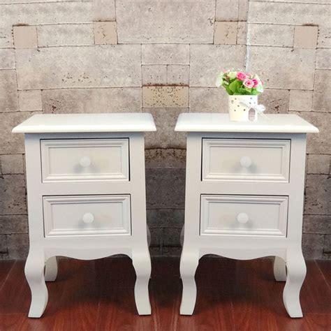 White Shabby Chic Bedside Table eBay