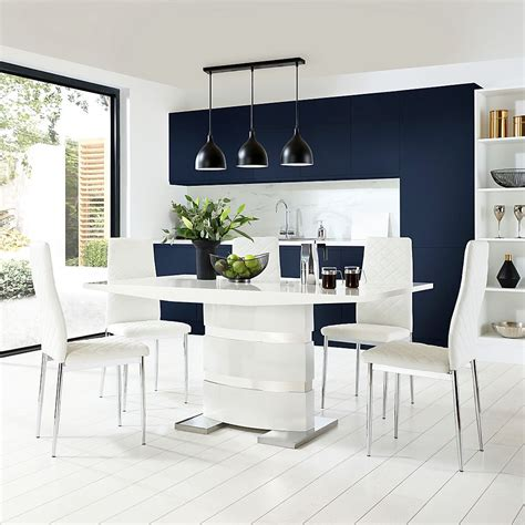 White Table Chairs White Dining Sets Furniture Choice