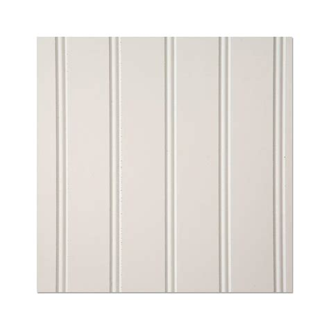 White True Bead Wainscot Panel The Home Depot