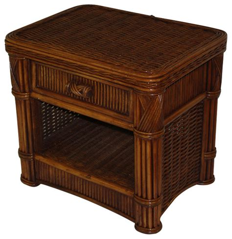 Wicker Rattan Nightstands and Bedside Tables Houzz