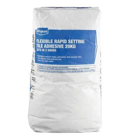 Wickes Flexible Rapid Set Tile Adhesive 20kg Wickes