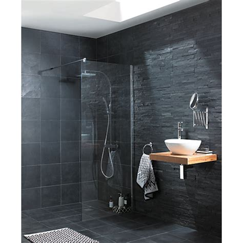 Wickes Slate Riven Grey Natural Stone Tile 300 x 300mm