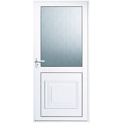 Wickes Tyne Aluminium Door Glazed 1981 x 762mm Right Hand