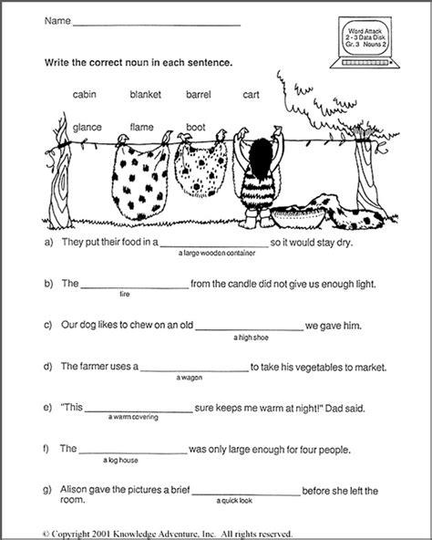 Wild West Nouns Word Usage JumpStart