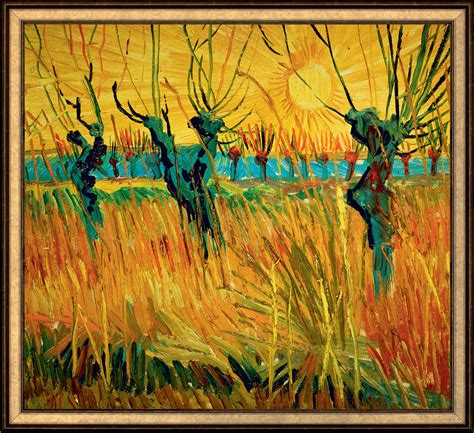 Willows at Sunset by Vincent Van Gogh 766 Painting