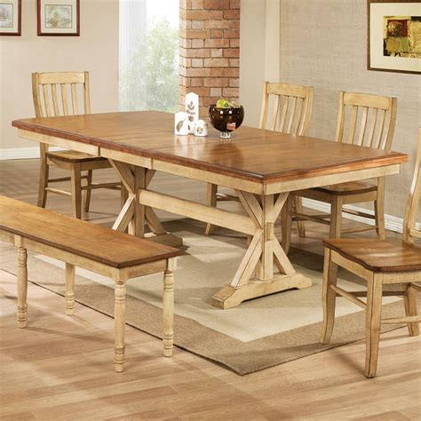 Winners Only Quails Run 84 in Trestle Dining Table with