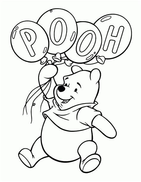 Winnie the Pooh online coloring page Coloring4all