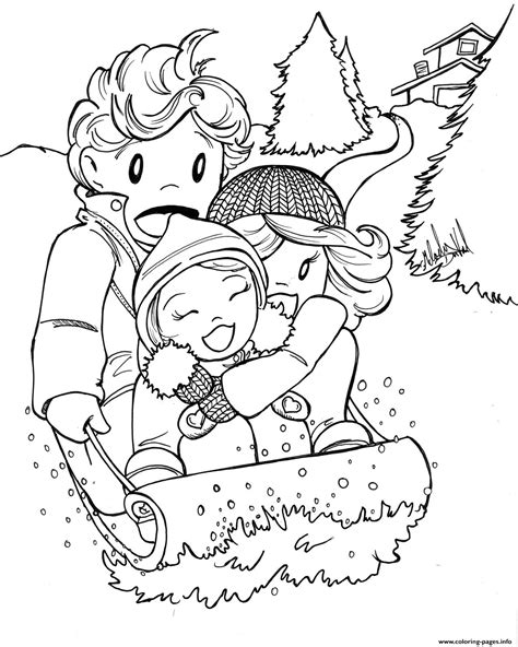 Winter Coloring Pages Educational Fun Kids Coloring