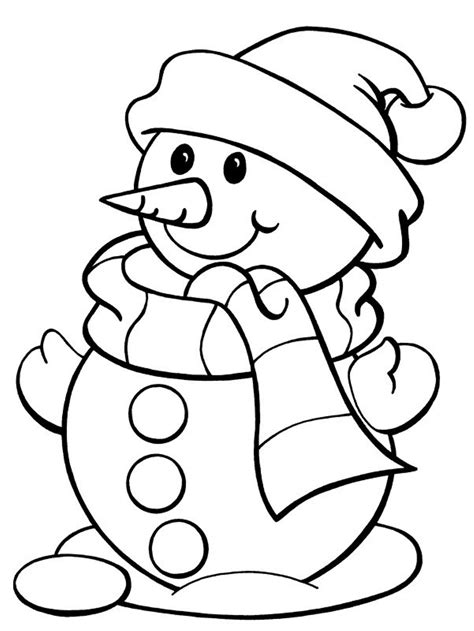 Winter Coloring Pages Free and Printable