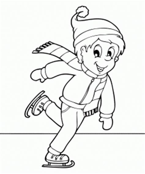 Winter Coloring Pages Ice Skating