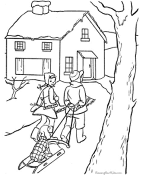 Winter Coloring Pages Raising Our Kids