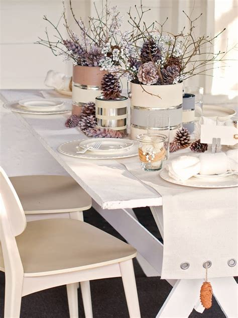 Winter Decorations Winter Table Ideas More Liz