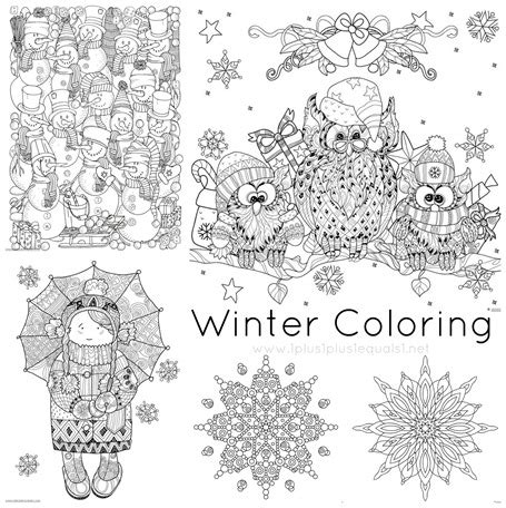 Winter Doodle Coloring Pages 1 1 1 1