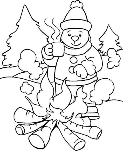 Winter coloring pages for kids Free printable coloring