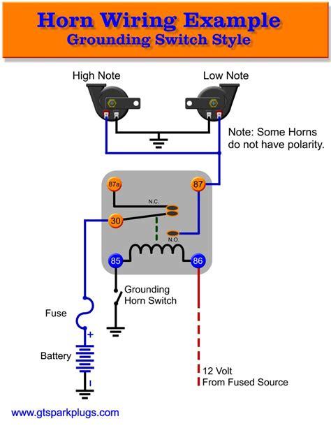 Wiring Diagram Horn Relay