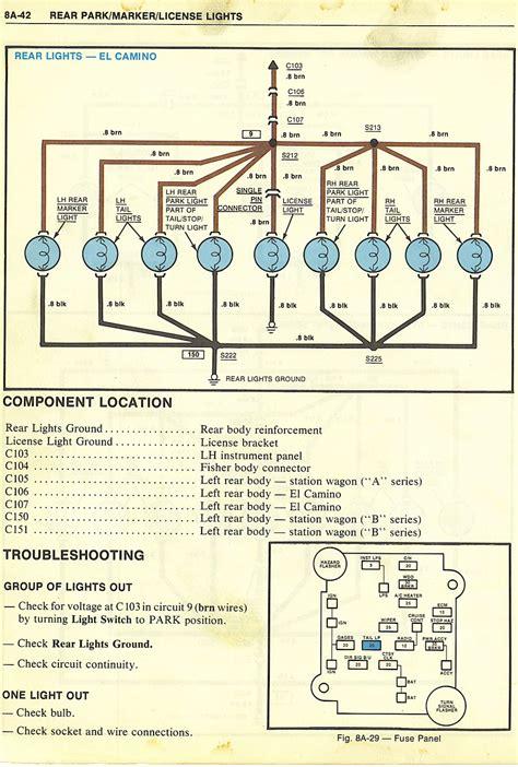 79 el camino wiring diagram images wiring diagrams buracing