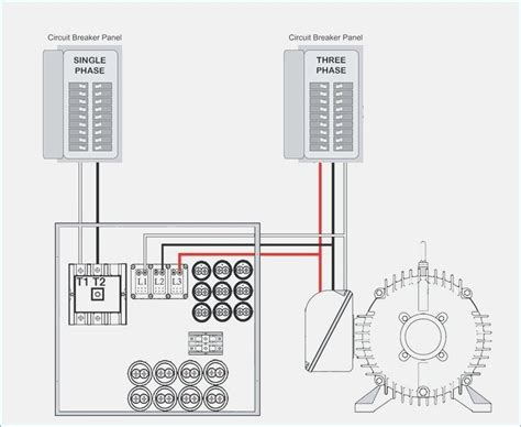Wiring Rotary Phase converter at Breaker Panel
