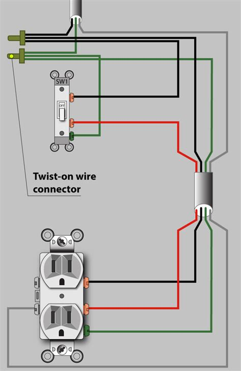 how to wire a switch controlled electrical outlet home images say wiring a switched outlet wiring diagram power to