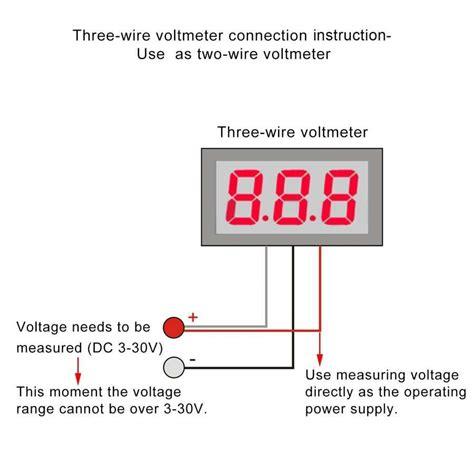 digital ammeter connection diagram images wiring for ammeter or voltmeter houlihane