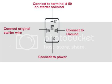 bosch starter relay wiring diagram images relay 4 pin wiring wiring for a 4 or 5 pin starter relay shoptalkforums