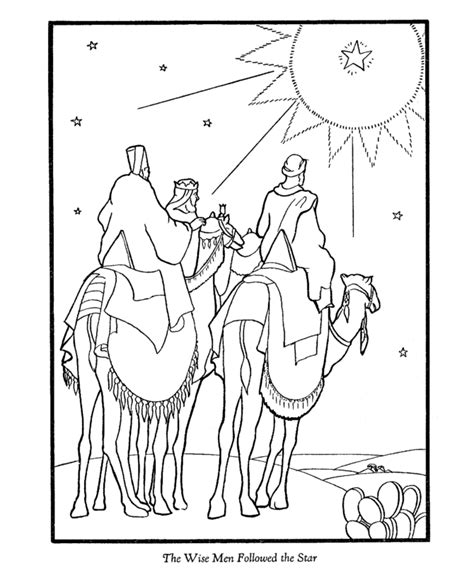 Wise Men Coloring Page Bible Story Printables