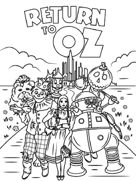 Wizard Of Oz Coloring Pages GetColoringPages