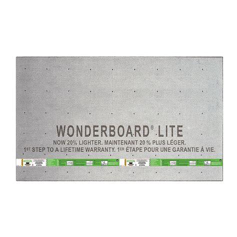 WonderBoard Lite 5 ft x 3 ft x 1 4 in Backer Board