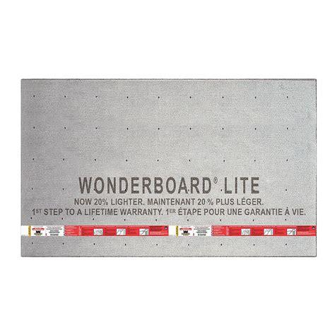 WonderBoard Lite 5 ft x 3 ft x 7 16 in Backer Board