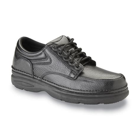 Wonderlite Men s Vinnie Leather Casual Oxford Black Wide
