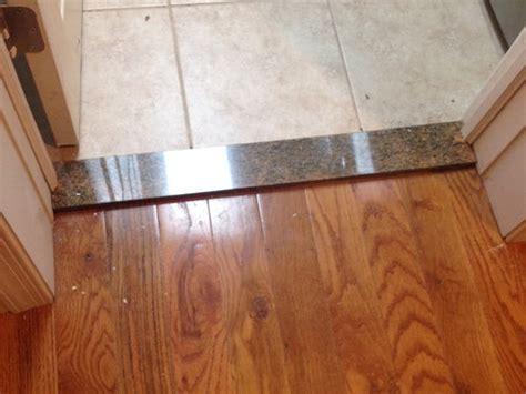 Wood Floor Saddle vs Marble Floor Saddle