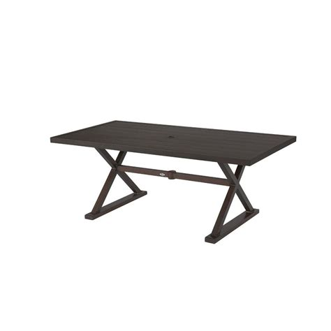 Woodbury Rectangular Patio Dining Table The Home Depot