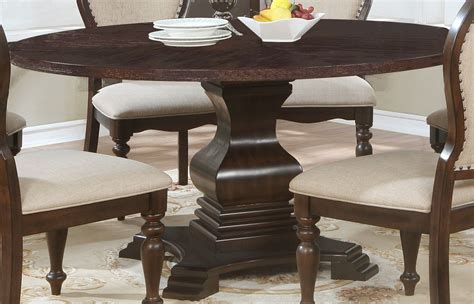Wooden Round Pedestal Dining Table Traditional Dining