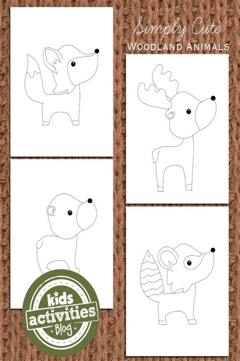 Woodland Animal Coloring Pages for Kids Kids Activities Blog