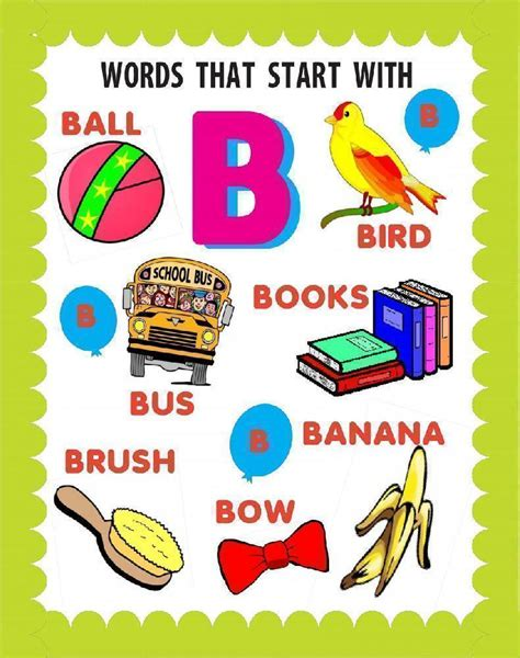 Words Beginning With B Words Starting with B
