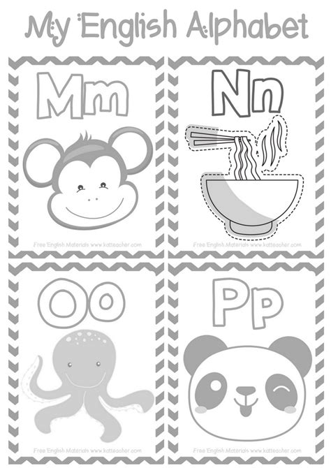 Worksheets and Coloring Pages for the Letters M N O and P